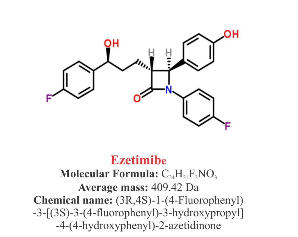 Ezetimibe : Structure and chemical information.