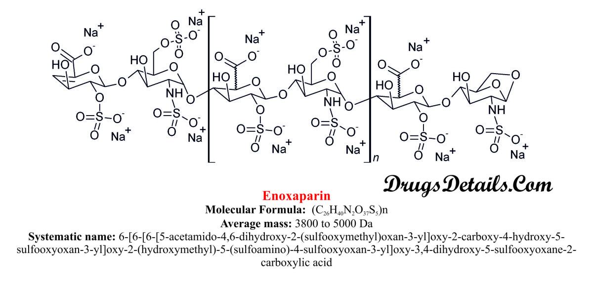 Enoxaparin : Structure and chemical information.