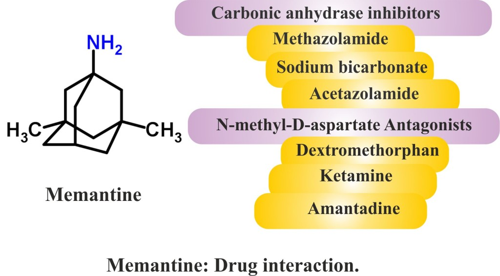Memantine : Drug interaction.
