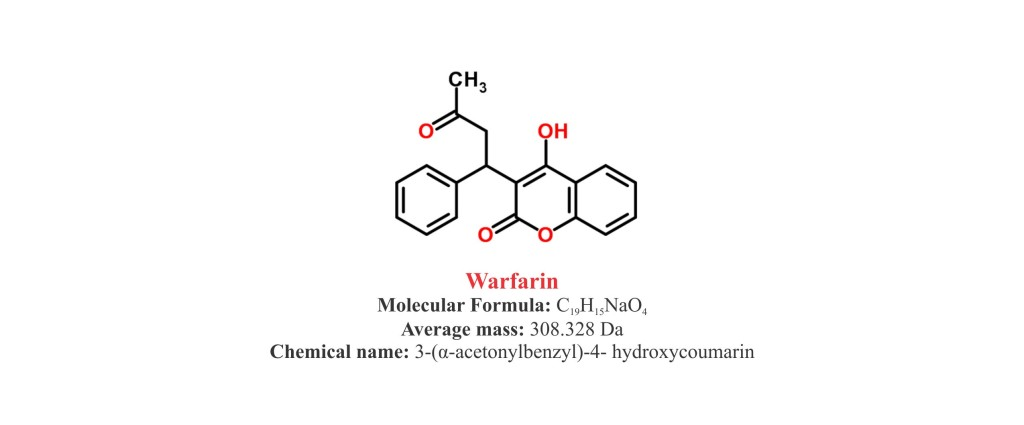 Warfarin : Structure and chemical information.