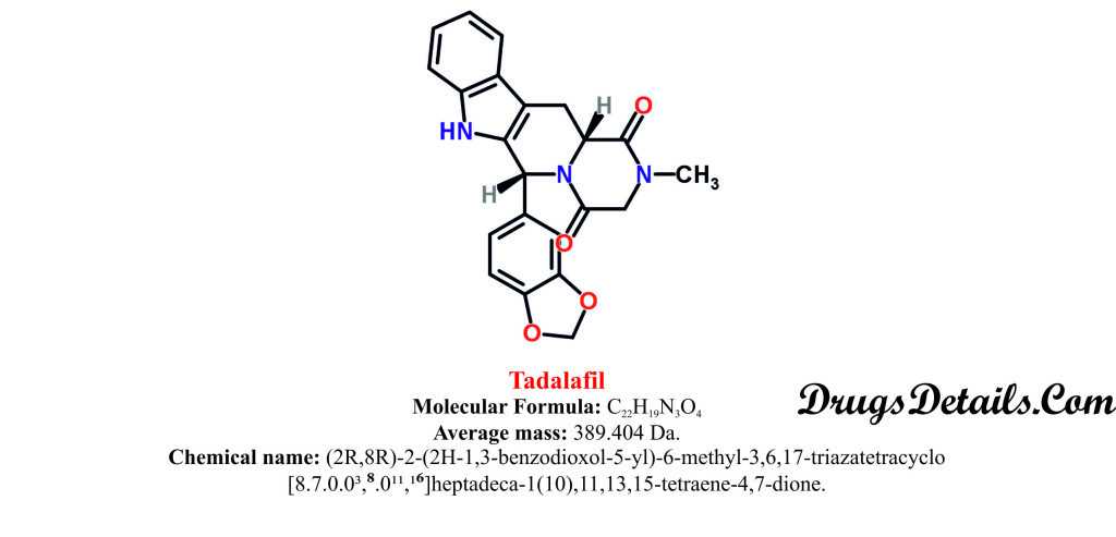 Tadalafil : Structure and chemical information.