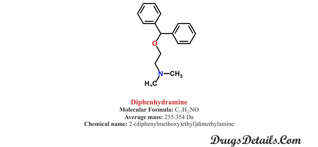 Diphenhydramine: Structure and chemical information.