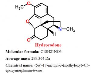 hydrocodone chemical formula