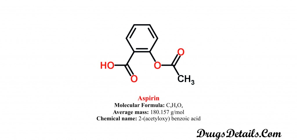 Aspirin: Structure and chemical information.