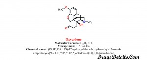 Oxycodone: Structure and chemical information.