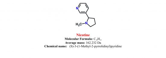 Nicotine structure and chemical information