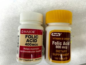 Folic acid 400 & 800mcg Tablet OTC