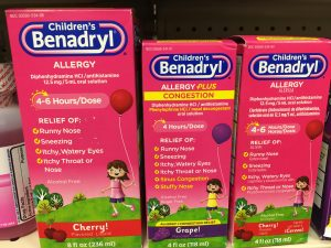 Benadryl syrup for children's