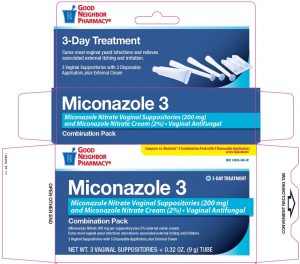 Miconazole suppositories.