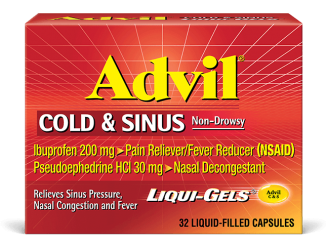 advil cold and sinus dosage