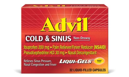 Advil Cold and Sinus liquid gels