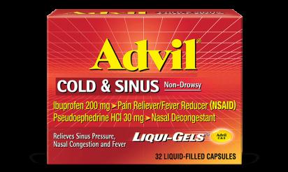 Advil Cold and Sinus liquid gels
