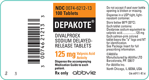 Depakote Withdrawal , Depakote 125mg label