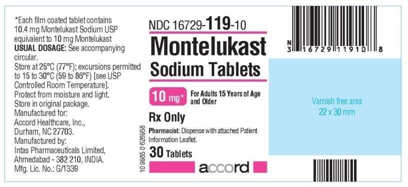 montelukast 10 mg