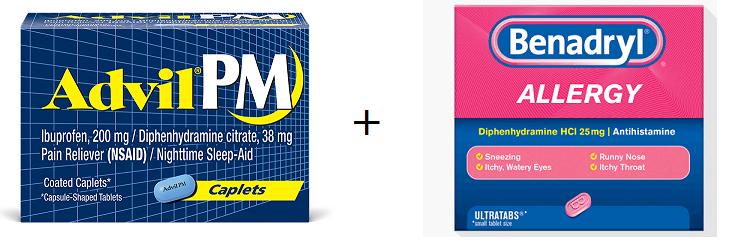 advil + benadryl