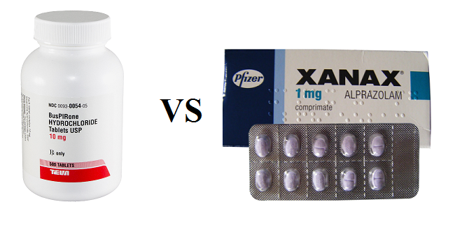 is buspirone like xanax