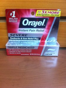 Orajel triple medicated instant relief