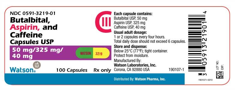 Butalbital/Aspirin/Caffeine combination
