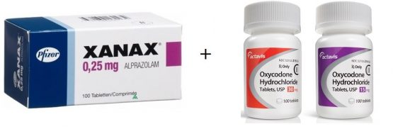Oxycodone and Xanax Drug Interactions