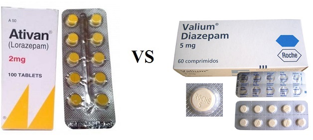 Differences and similarities between Ativan and Valium