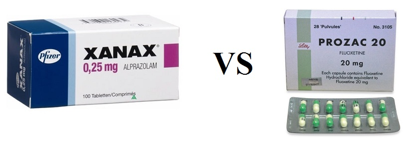 Difference Between Xanax and Prozac