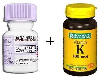 How does vitamin K affect warfarin?