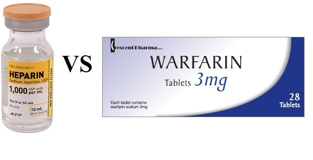 difference between heparin and warfarin
