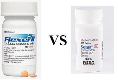 Which is stronger between Flexeril and Soma for neck back pain