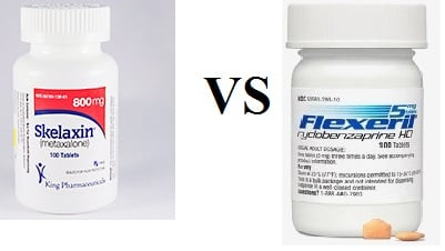 which is stronger skelaxin or flexeril for back pain