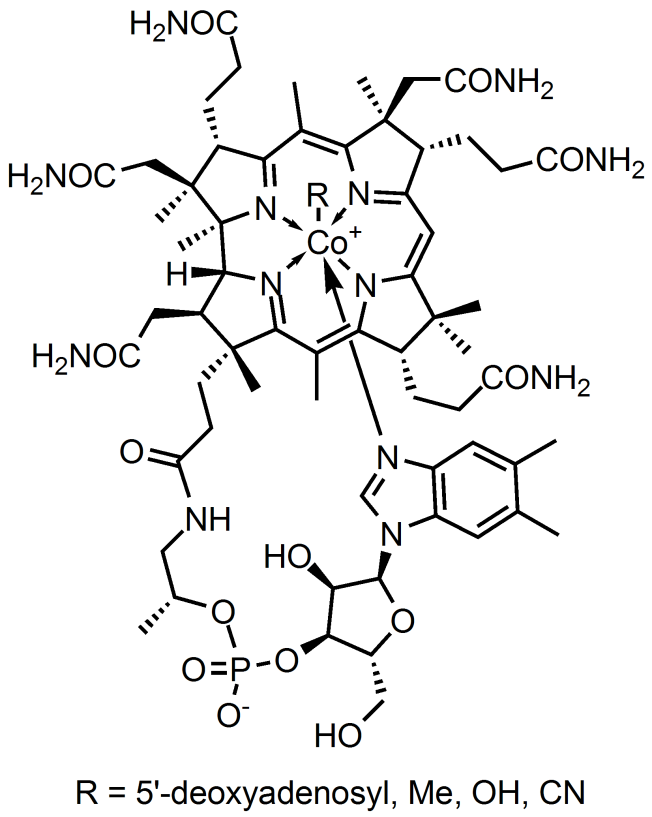 vitamin b12 Cobalamin chemical structure
