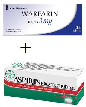 aspirin vs warfarin bleeding risk