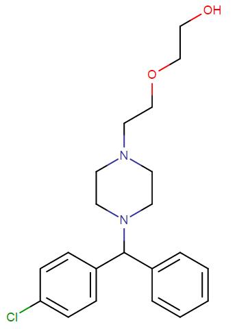 Hydroxyzine molecular formula