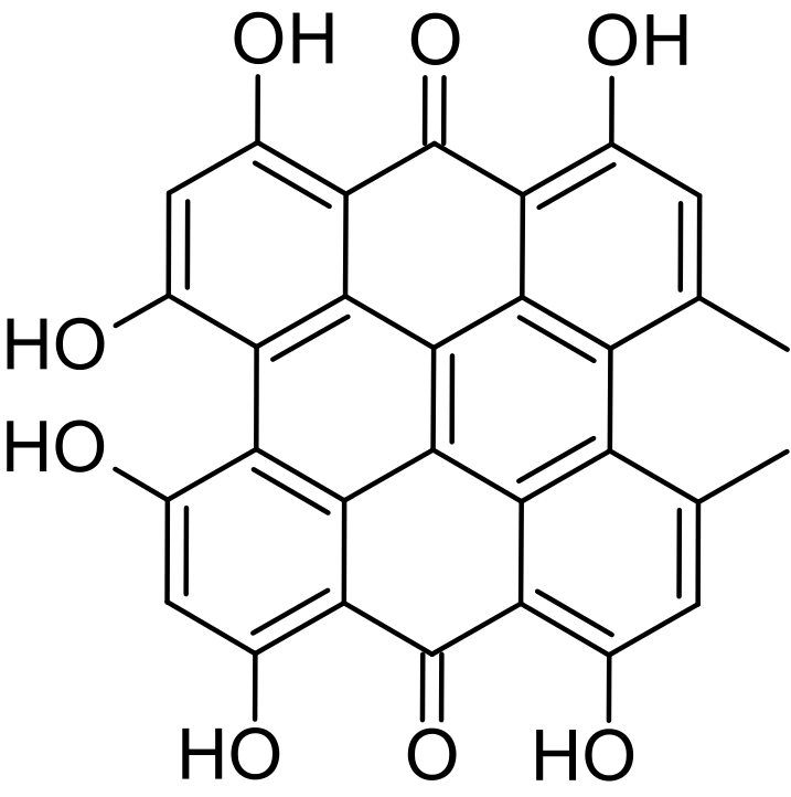 Structure formula of Hypericin