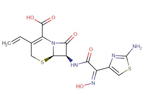 Cefdinir molecular formula: C14H13N5O5S2