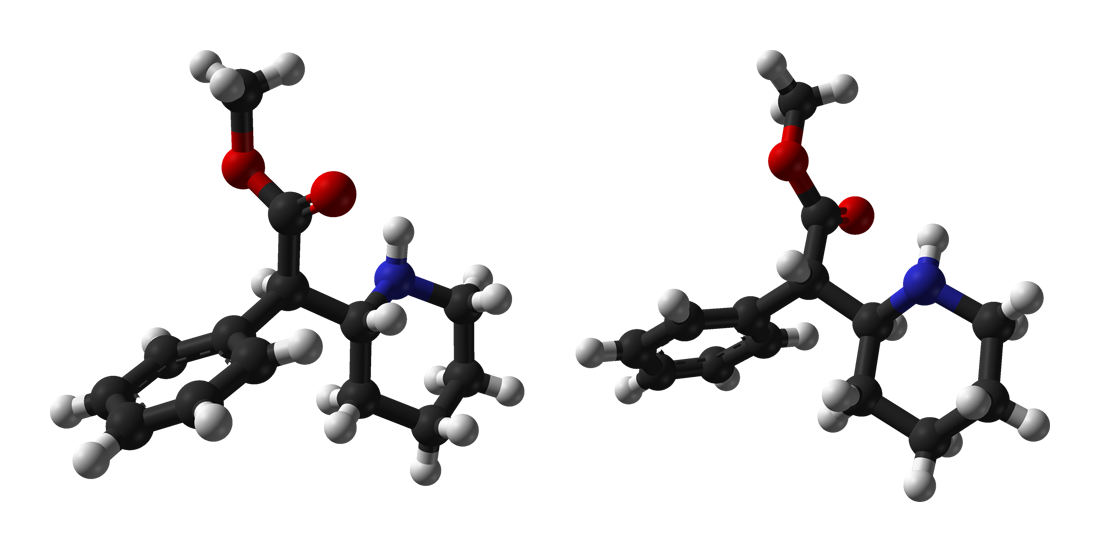 3D molecular formula of Methylphenidate