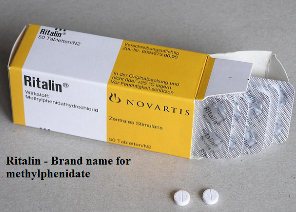 Methylphenidate brand name = Ritalin