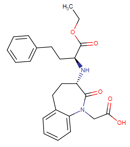Benazepril molecular formula and weight