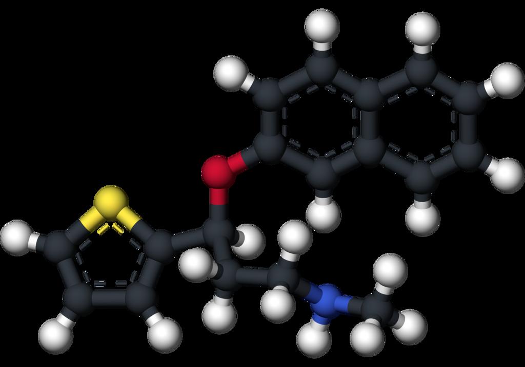 Duloxetine molecular in 3D