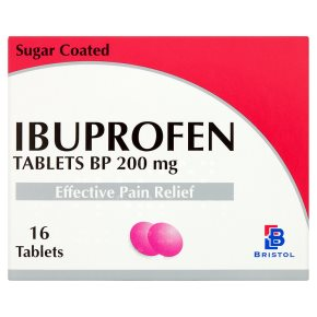 How does ibuprofen work to relieve pain?