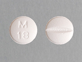 Metoprolol tartrate: Indications, Side Effects, Warnings, M18 white