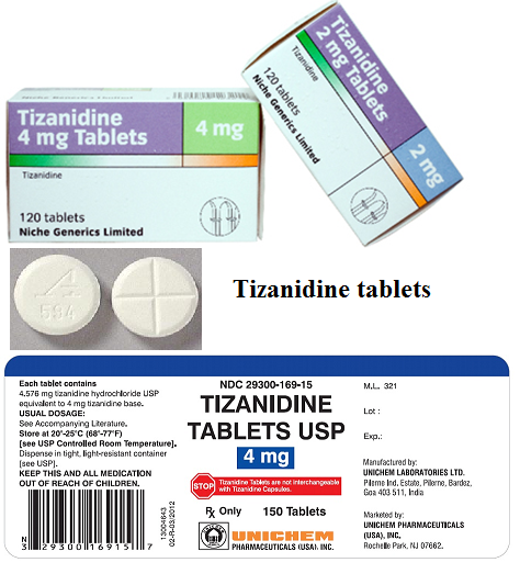 What is tizanidine prescribed for? Is Zanaflex a narcotic?