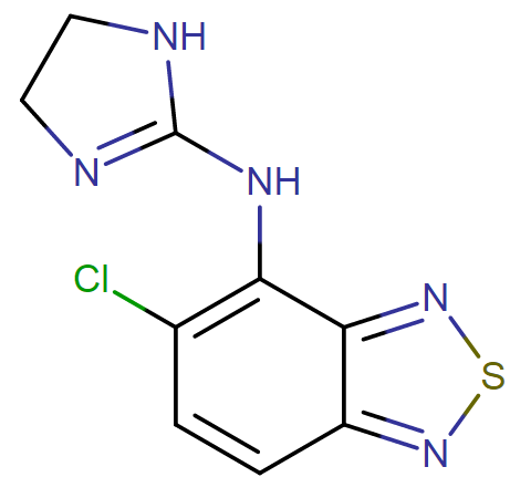 Tizanidine molecular formula