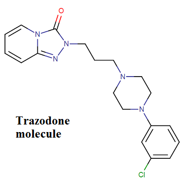 How does trazodone work in the brain?