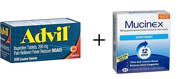 taking advil with mucinex