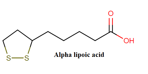 Alpha lipoic acid molecular formula, class and weight
