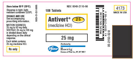how often can you take meclizine 25 mg