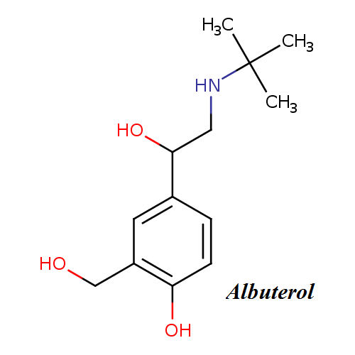 Albuterol molecular structure