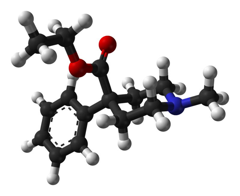 meperidine structural formula 3D