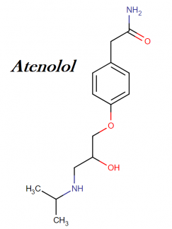 Atenolol IUPAC name, molecular weight, structure, and class
