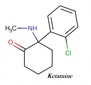Ketamine IUPAC name, chemical structure, mass, formula